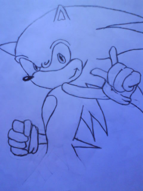 Sonic the Hedgehog outline by LexyHedgehog