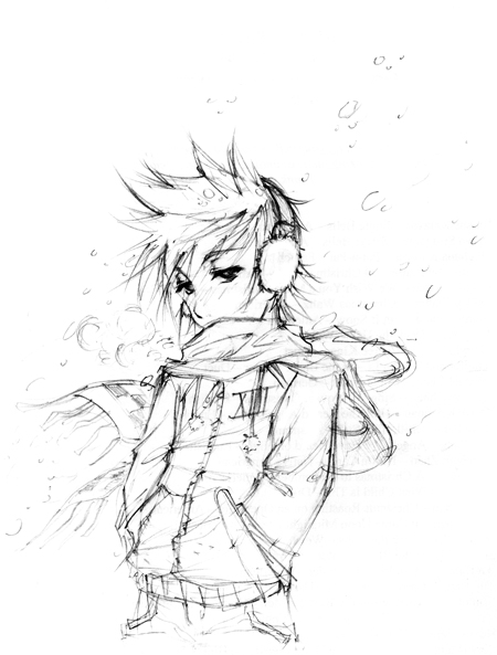 :: Winter Roxas by shadow-freak