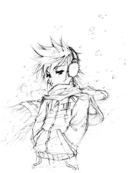 :: Winter Roxas by shadow-freak