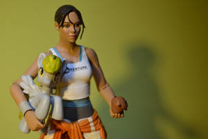 Chell loves her pony by dos1