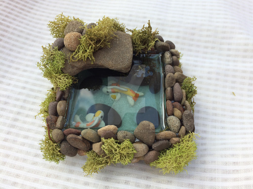 Square Resin Koi Fish Pond by Melissas-Art