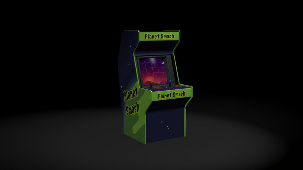 Planet Smash Arcade Machine 3D by Melissas-Art