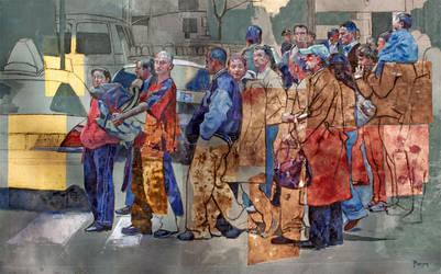 Crosswalk on Manhattan by rpintor