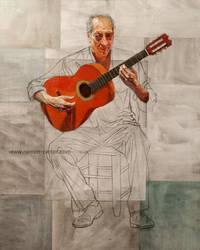 Guitarrista flamenco by rpintor