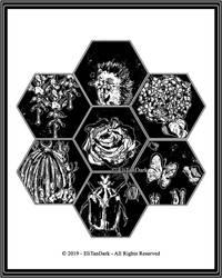 #21 Hexagon / Hexagono (Inktober 2019) by EliTanDark