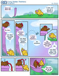 Goki - Long Golden Feathers by SkylaComics
