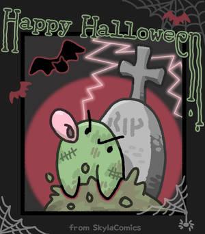 Happy Halloween - Zombie Chick