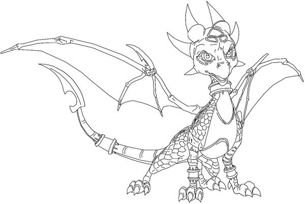 Cynder the Dragon lines by CyberToaster on DeviantArt