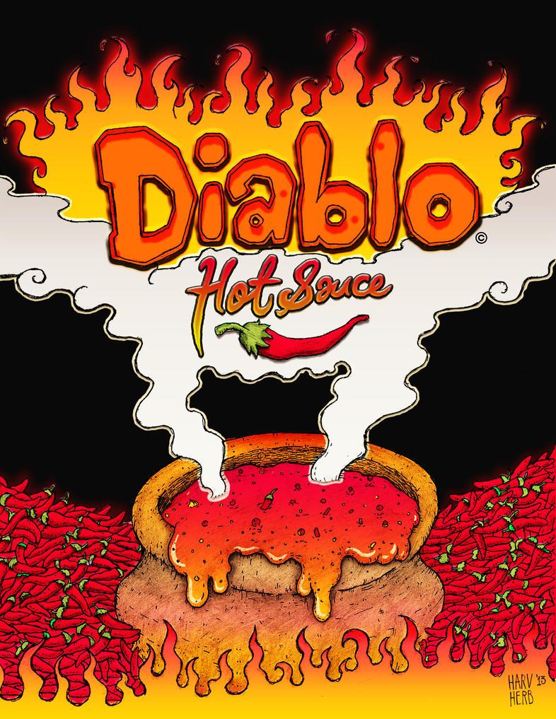 Salsa Delicadeza caliente del DIABLO ! Diablo_hot_sauce_by_herbolarioharvey-d6fi5lg