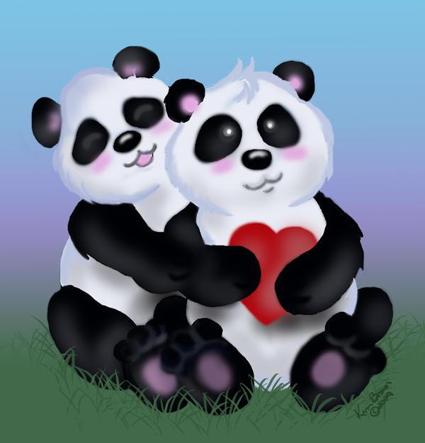 Panda Love by PixlPhantasy on DeviantArt
