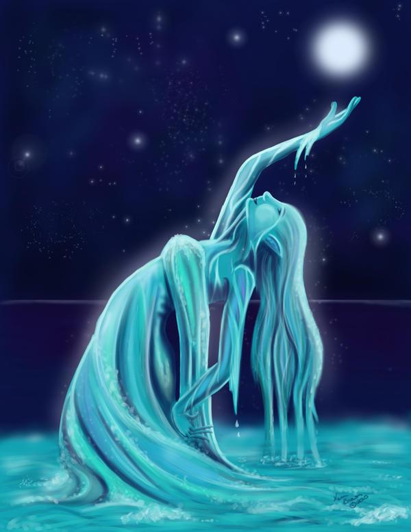 Water Spirit ::Digital Redo:: by PixlPhantasy