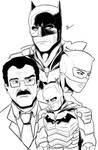 The Batman Poster (Line Art)