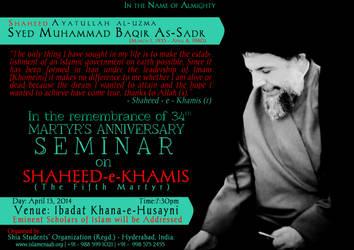SHAHEED-e-KHAMIS by abedy