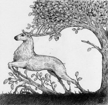 Tree-stag by VivianaStellata