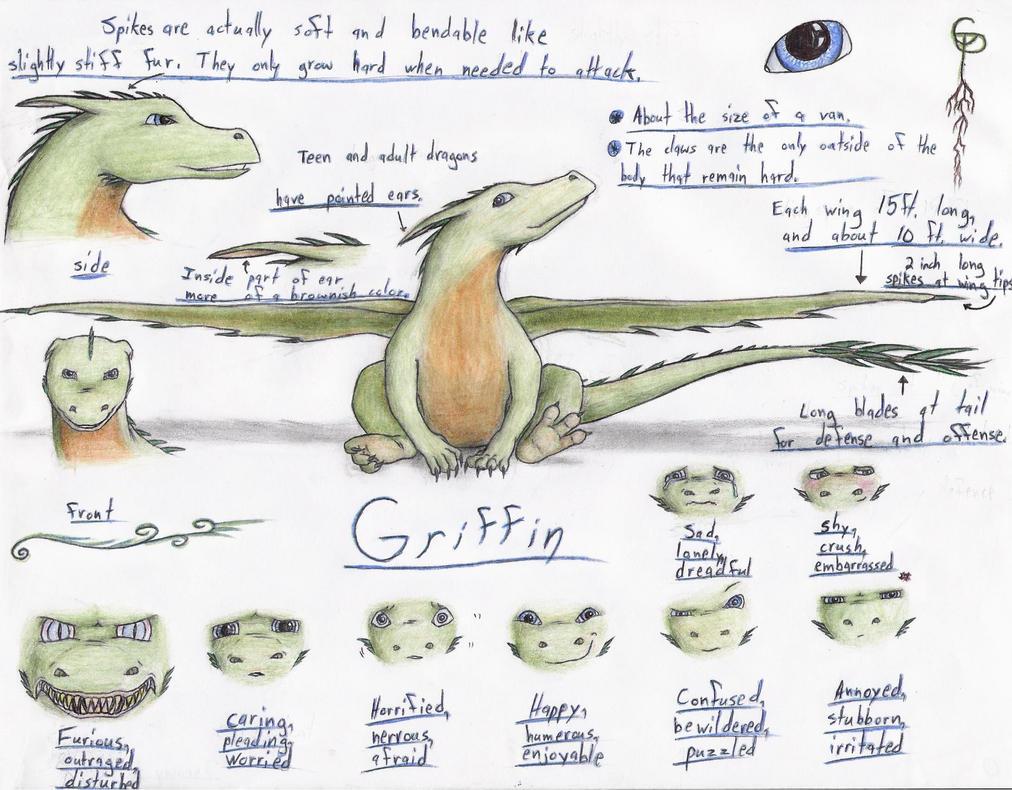 Griffin's dragon form by GriffinPhillis