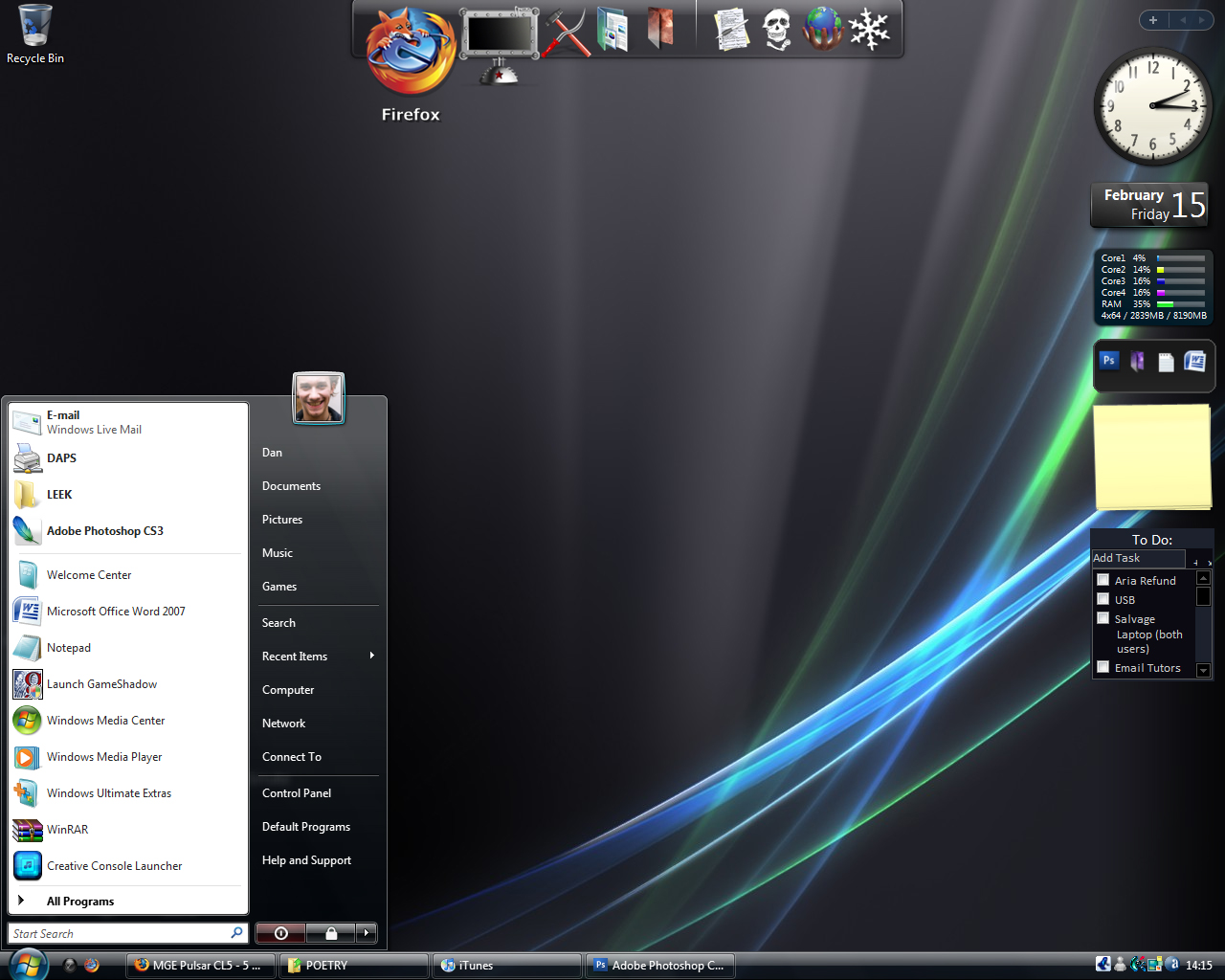 rocketdock for windows vista