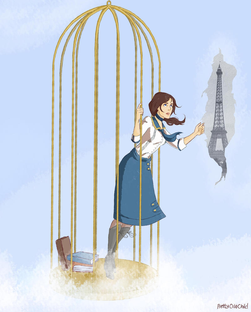 The Bird and Her Cage by prettyoddchild