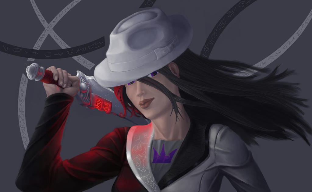 Commission, fedora girl by Peace-In-Violence