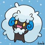 snowy cotton ball