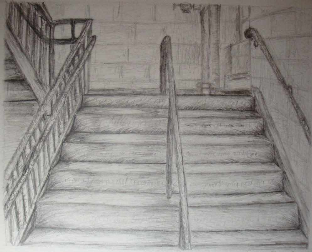 Stairs Drawing By Izuna1313 On DeviantArt
