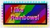 I Love Rainbows Stamp by The-Lost-Hope