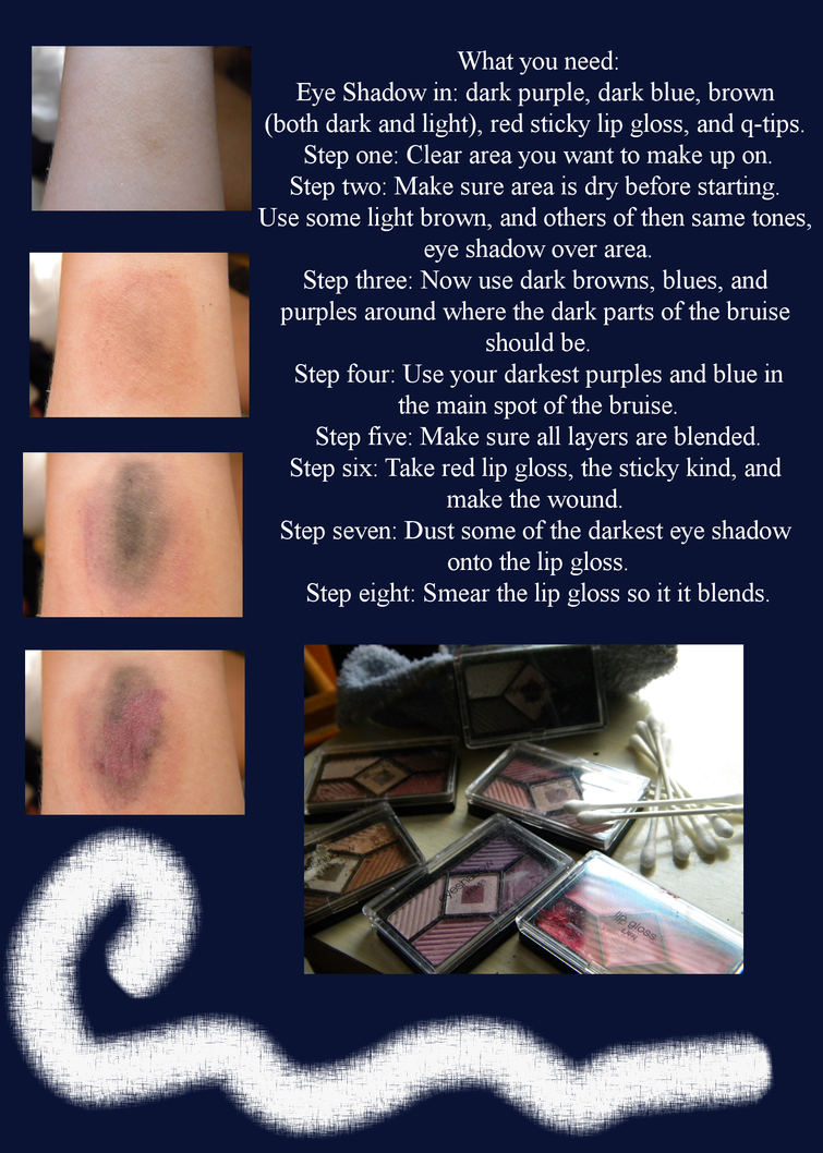Fake Bruise Tutorial by The-Lost-Hope