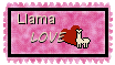 Llama Love Stamp by The-Lost-Hope