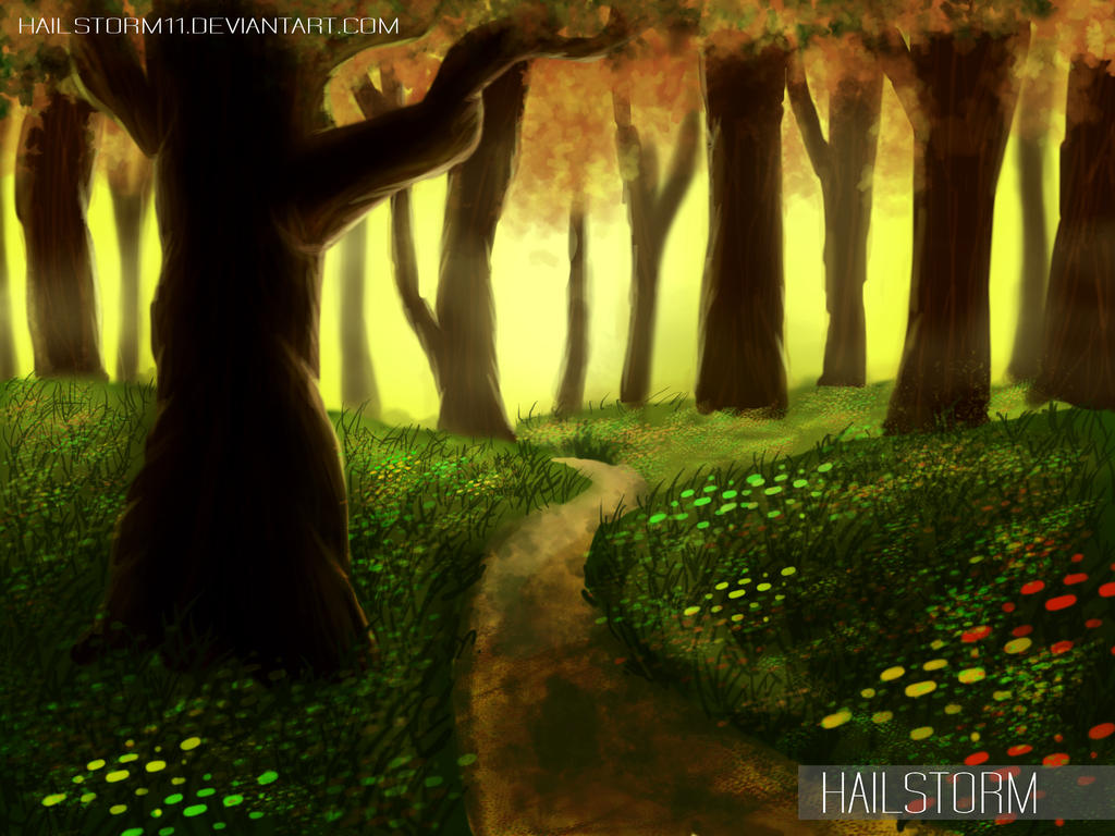 Forest Scene By Hailstorm11 On Deviantart