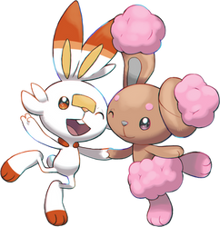 Pokemon sword shield Scorbunny And Buneary