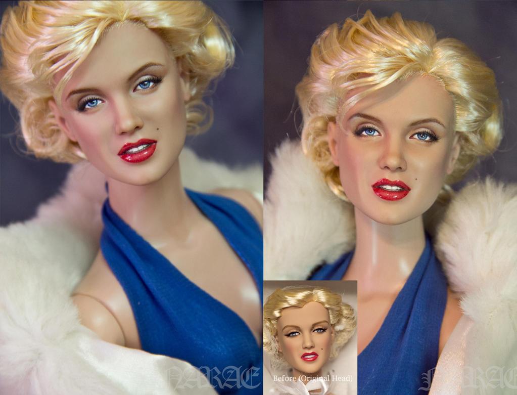 OOAK Marilyn Monroe Hand painted Doll by naraedoll