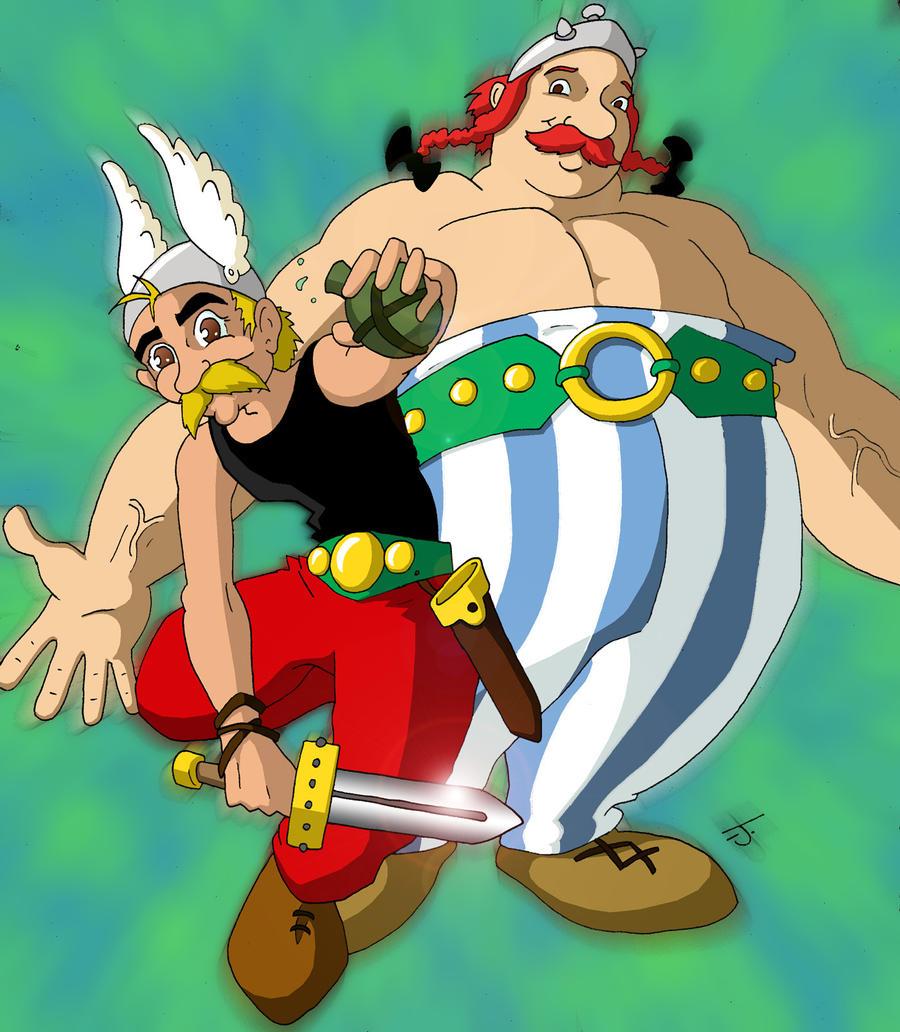 Asterix and obelix by coldangel1 on deviantart