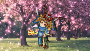 xLillith with Sakura Trees by LuisaRLZ