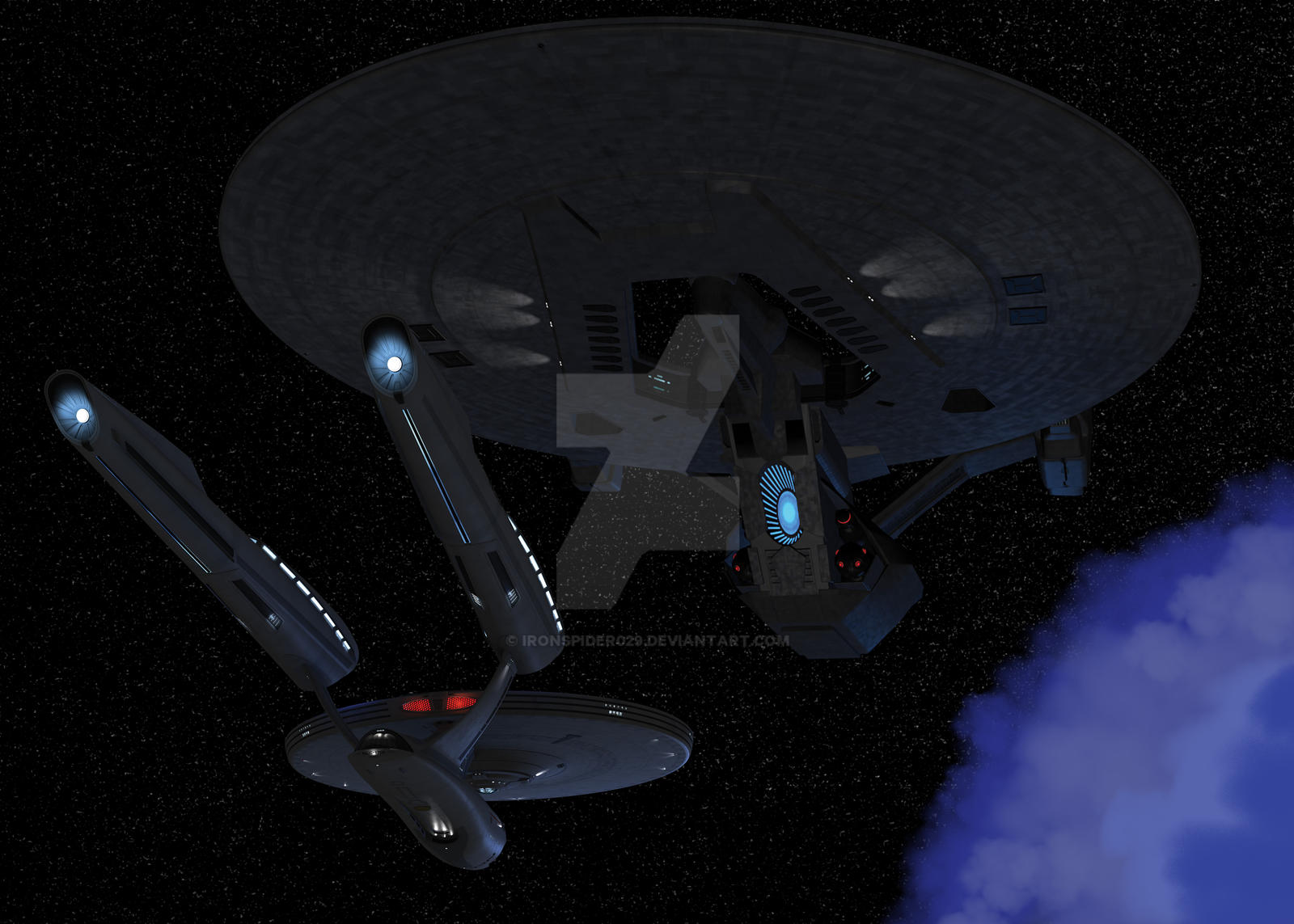 Uss Vengeance Wallpaper Enterprise Meets USS V...