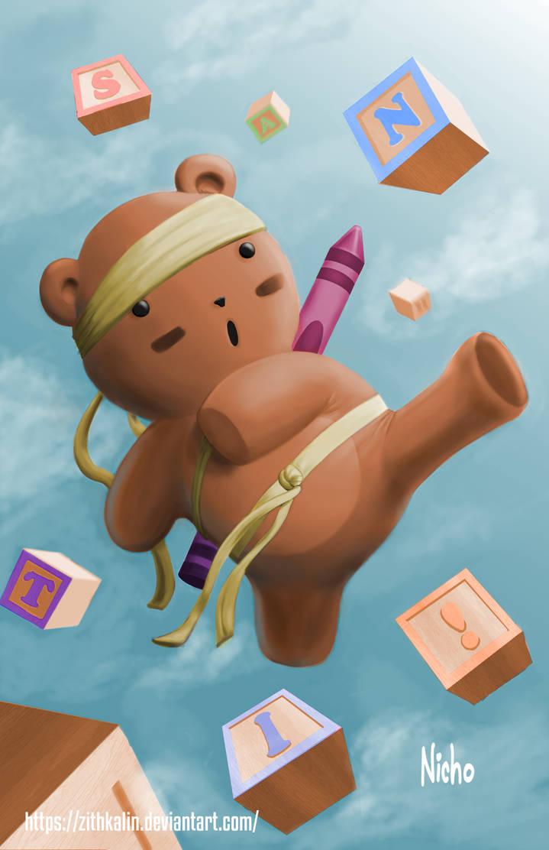 Karate Bear by ZithKalin