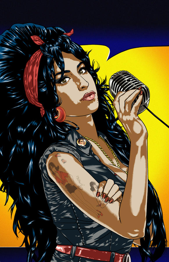 Bluewater Comics Tribute to AMY WINEHOUSE Cover A