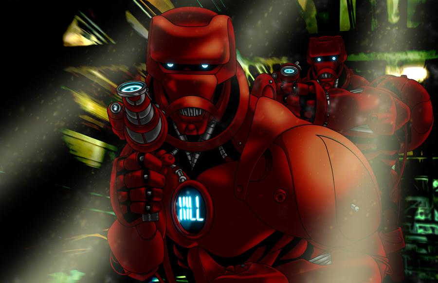 RETROSTAR - K.A.R.R.I.O.N. Robots by BrentJS