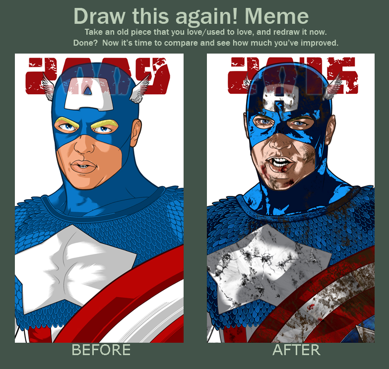 Draw This Again Meme - Captain America by BrentJS