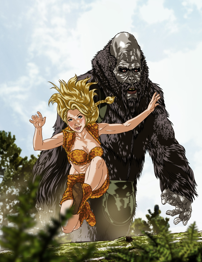 RETROSTAR - Jungle Jaena and Buddy Bigfoot by BrentJS