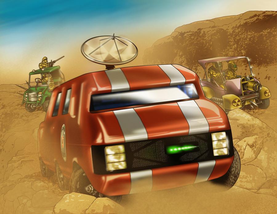 RETROSTAR - Desert Chase by BrentJS