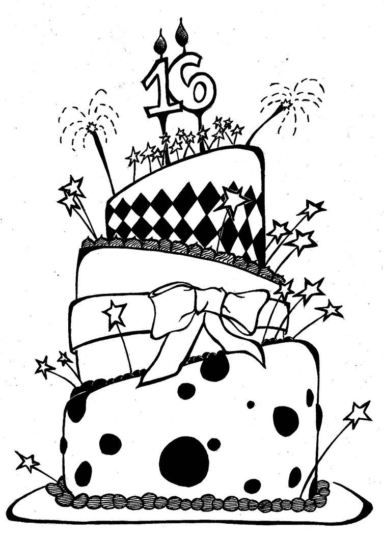 1000+ images about Cake Drawings on Pinterest