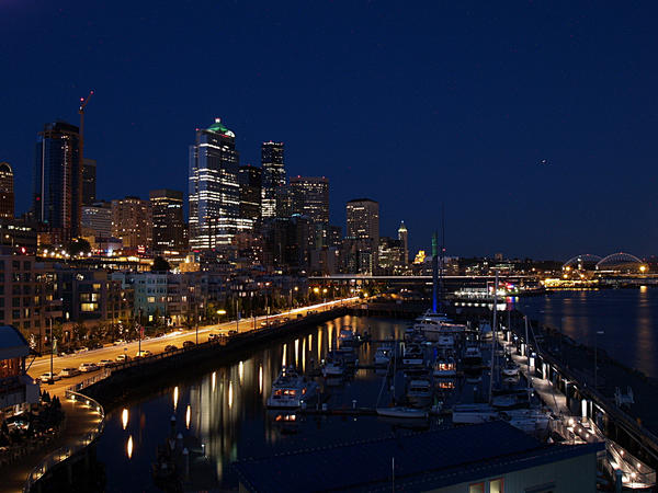 seattle downtown from pier66 by crazytmac
