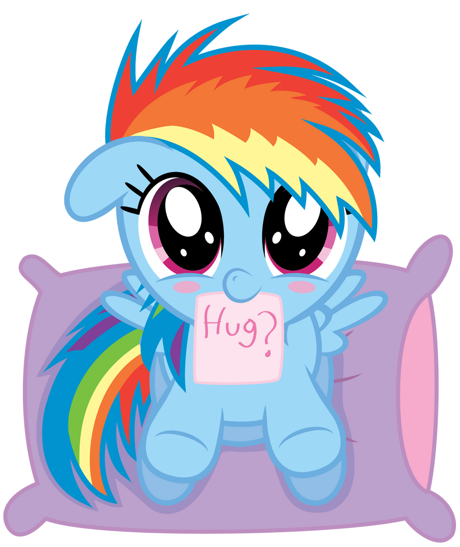 Dashie Hug Time? by Chubble-munch