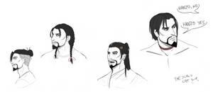 Hanzo hairstyles