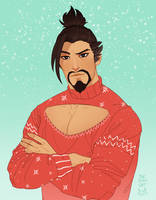 Hanzo icon commission by connora28