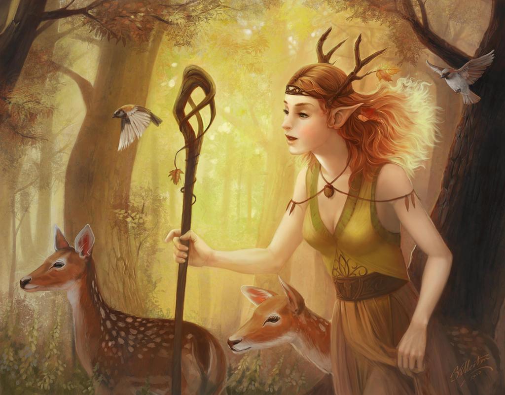 The Deer Herder by artsangel