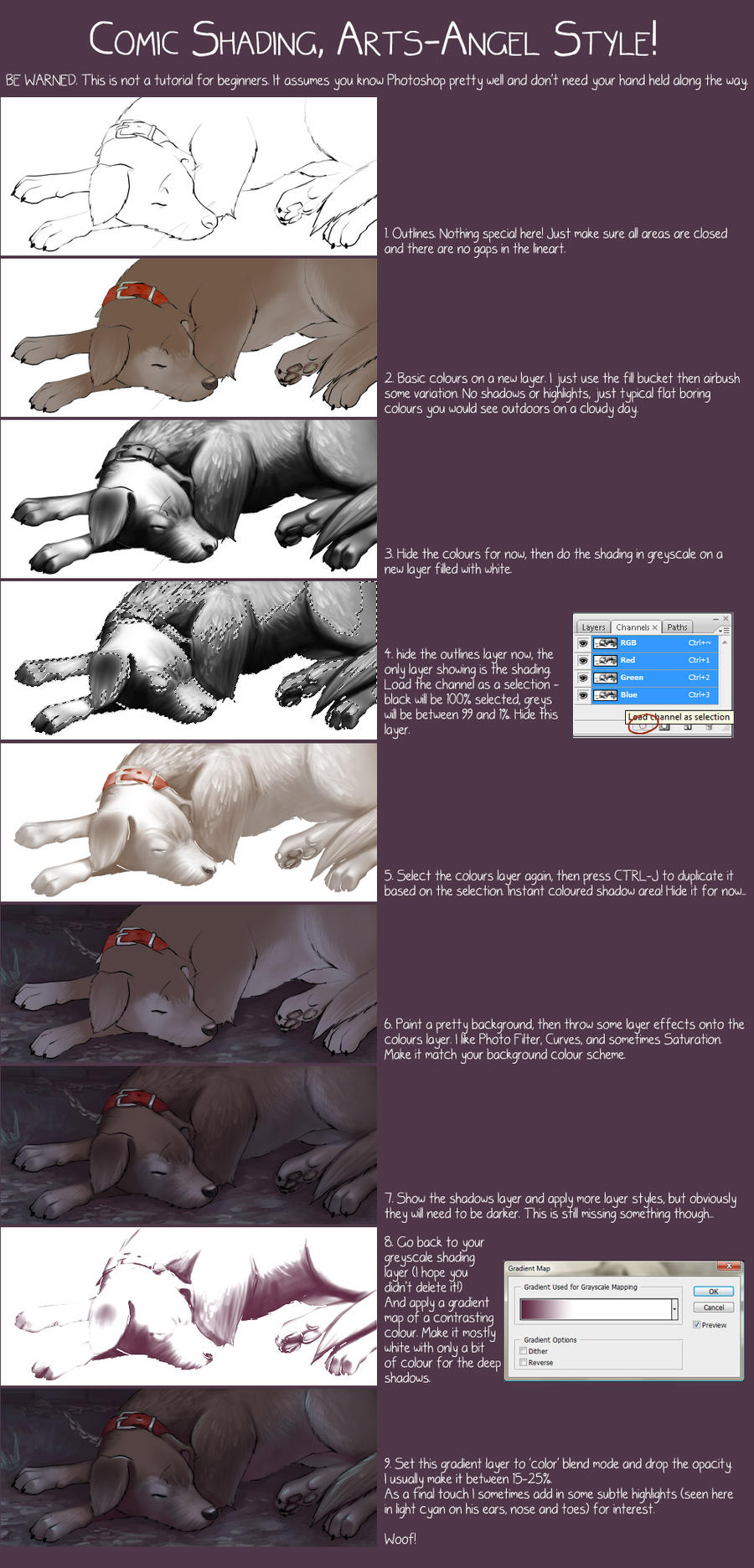 Smooth Comic Shading Tutorial by artsangel