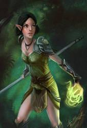 Dragon Age 2 - Merril by artsangel