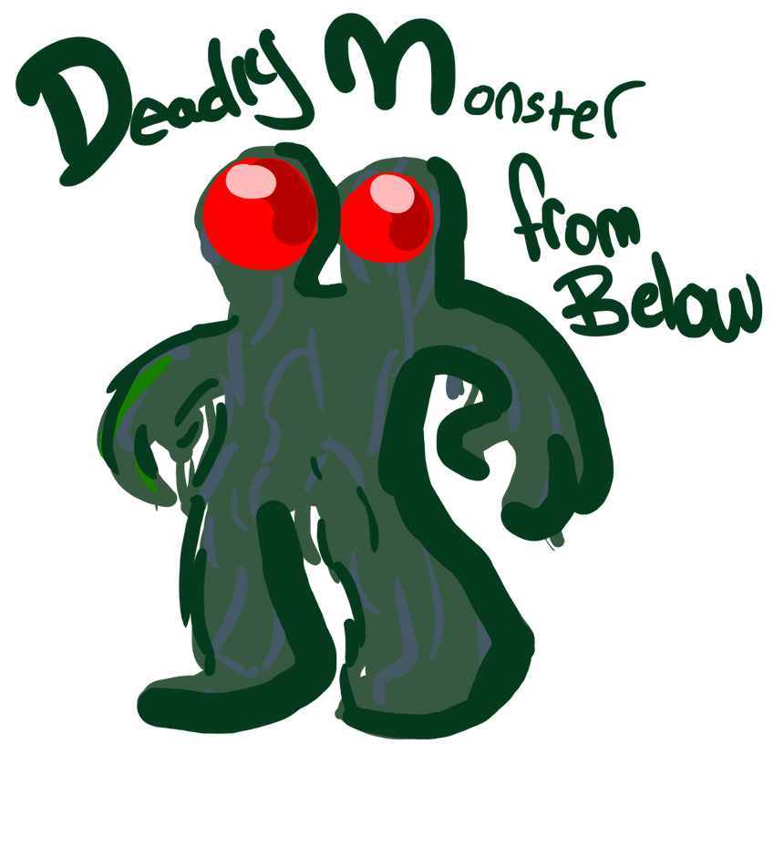 Deadly Monster From Below By Wakkodemonboy On Deviantart