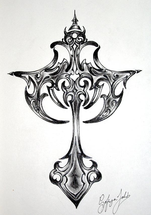 gothic cross by silentsinner666 on deviantart. Black Bedroom Furniture Sets. Home Design Ideas