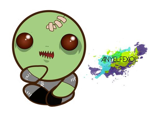 Kawaii Sticker 2 Zombie By Anyelfexol On Deviantart